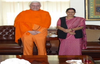 Guruji's calls on EAM and Minsiter of AYUSH