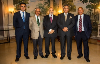 Embassy of India, Lisbon organised a high tea in the honour of Minister of State for External Affairs & Overseas Indian Affairs Gen.(Dr.) V. K. Singh on July 4. More than 25 prominent NRIs, businessmen and PIOs attended.""