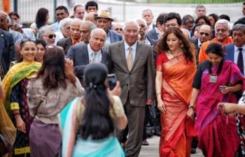 PM Costa and Madam Ambassador at Hindu Community of Portugal