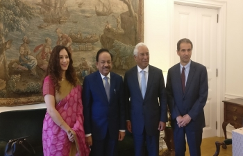 Visit of Hon'ble Minister Dr. Harsh Vardhan to Portugal, 7-8 Sept 2017
