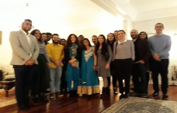 Ambassador of India Mrs K.Nandini Singla hosted a reception for students of Indian Study Centre of University of Lisbon on December 13, 2017 at India House. Students shared their experience of learning Hindi language at Indian Study Centre along with some useful suggestions for making the Hindi learning course more attractive and effective.