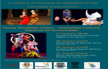 Seraikella Chhau Dance Performance in Lisbon (27.01.2018)