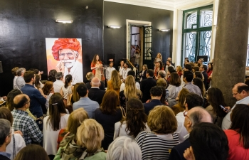 Inauguration of 'Dear India', an India-inspired art exhibition in Lisbon (05.05.2018)