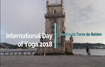 Celebration of 4th International Day of Yoga, Lisbon, June 21,2018