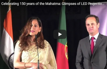 Celebrating 150 years of the Mahatma: Glimpses of LED Projection (02.10.2018)