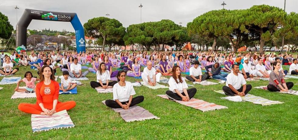 Celebration of 4th International Day of Yoga, Lisbon, June 21, 2018