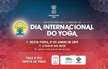 A message from Ambassador of India to Portugal H.E. Mrs. K. Nandini Singla and Ms. Chandra Devi of the Portuguese Yoga Confederation inviting all to celebrate the 5th International Day of Yoga!