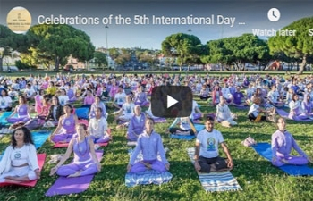 Celebrations of the 5th International Day of Yoga at Belem Tower, Lisbon (21.06.2019)