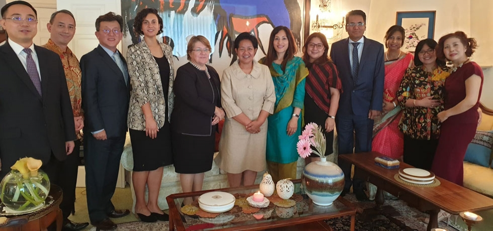 Asian Ambassadors lunch hosted by H. É. Song Oh, the Ambassador of the Republic of South Korea, 20 September 2019