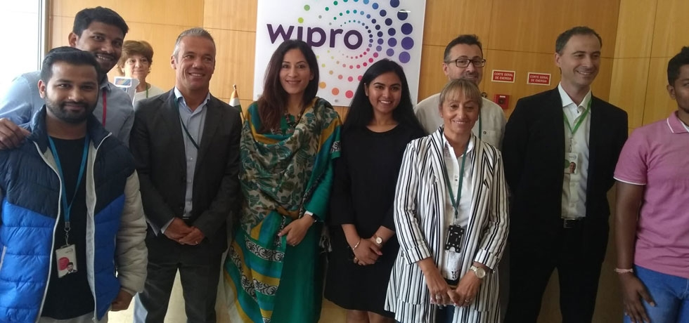 H. E Nandini Singla Visited WIPRO office in Porto and had a wonderful interaction with the management and Indian IT Professionals (27.09.2019).
