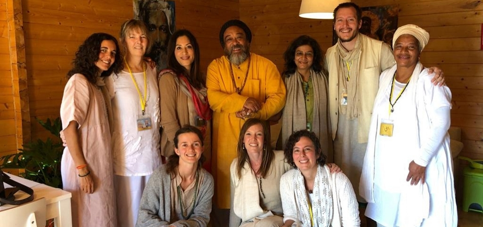 H. E K Nandini Singla met Mooji Babaji and a thousand disciples from all over the world at the Satsang silent retreat at Zambujeira do Mar in Portugal on 5-6 October.