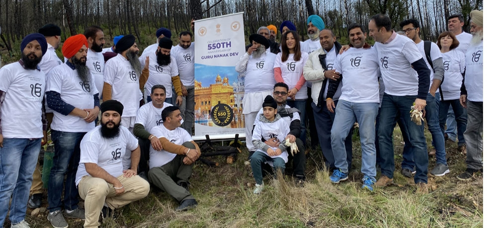 The Embassy of Indian in association with Gurudwara Sikh Sangat Sabha, Lisbon  and Municipality of Lousa organized a tree plantation event commemorating 550th birth anniversary of Guru Nanak Devji (19.11.2019)