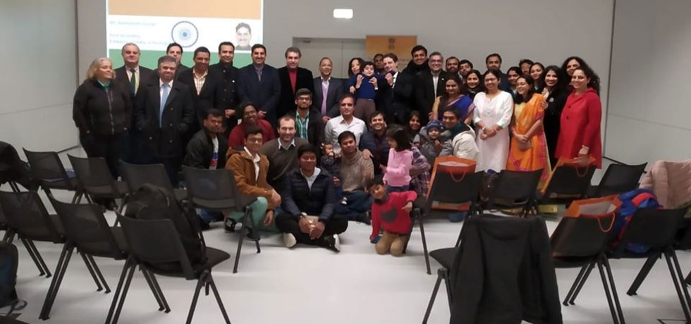 Constitution day celebrations at Braga with Indian students and researchers (26.11.2019)