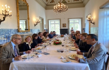 Lunch hosted by Mr. Alberto Laplaine Guimaraes, Secretary General of the Municipality of Lisbon for Ambassadors on 6th March, 2020.