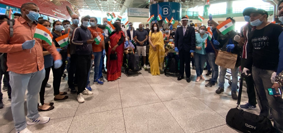 #VandeBharatMission- 78 stranded Indians were repatriated back to India by a special KLM Amsterdam flight from Lisbon ( 31.05.2020)