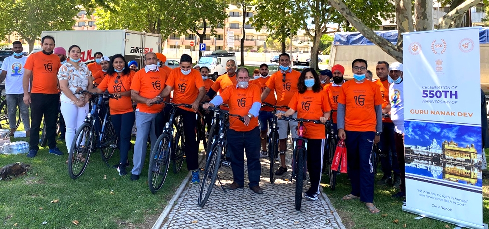 Glimpses of Cycle Rally as part of #550GuruNanakDevJi held in Albufeira with(11.07.2020)