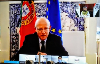 Virtual Meeting between External Affairs Minister and Foreign Minister of Portugal ( 14.10.2020)