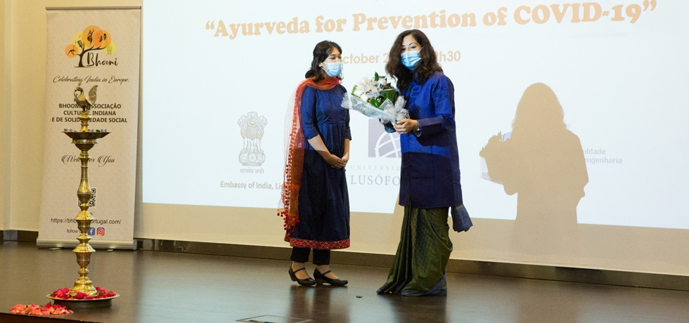 Glimpses of Ayurveda Day celebrations in collaboration with Bhoomi Association and University of Lusófona (24.10.2020)