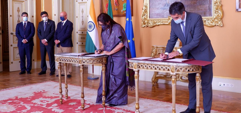 Minister of State for External Affairs and Culture H.E Smt. Meenakashi Lekhiand Secretary of State for International Affairs & Cooperation H.E Francisco Andrésigned an agreement on Labour Mobility facilitating recruitment of Indian citizens to work in Portugal ( 13 September 2021).